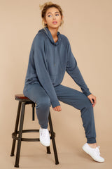 7 The Dark Slate Premium Fleece Relaxed Jogger at reddressboutique.com