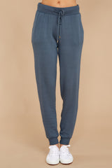 2 The Dark Slate Premium Fleece Relaxed Jogger at reddressboutique.com