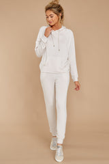 4 The Champagne Mist Premium Fleece Relaxed Jogger at reddress.com
