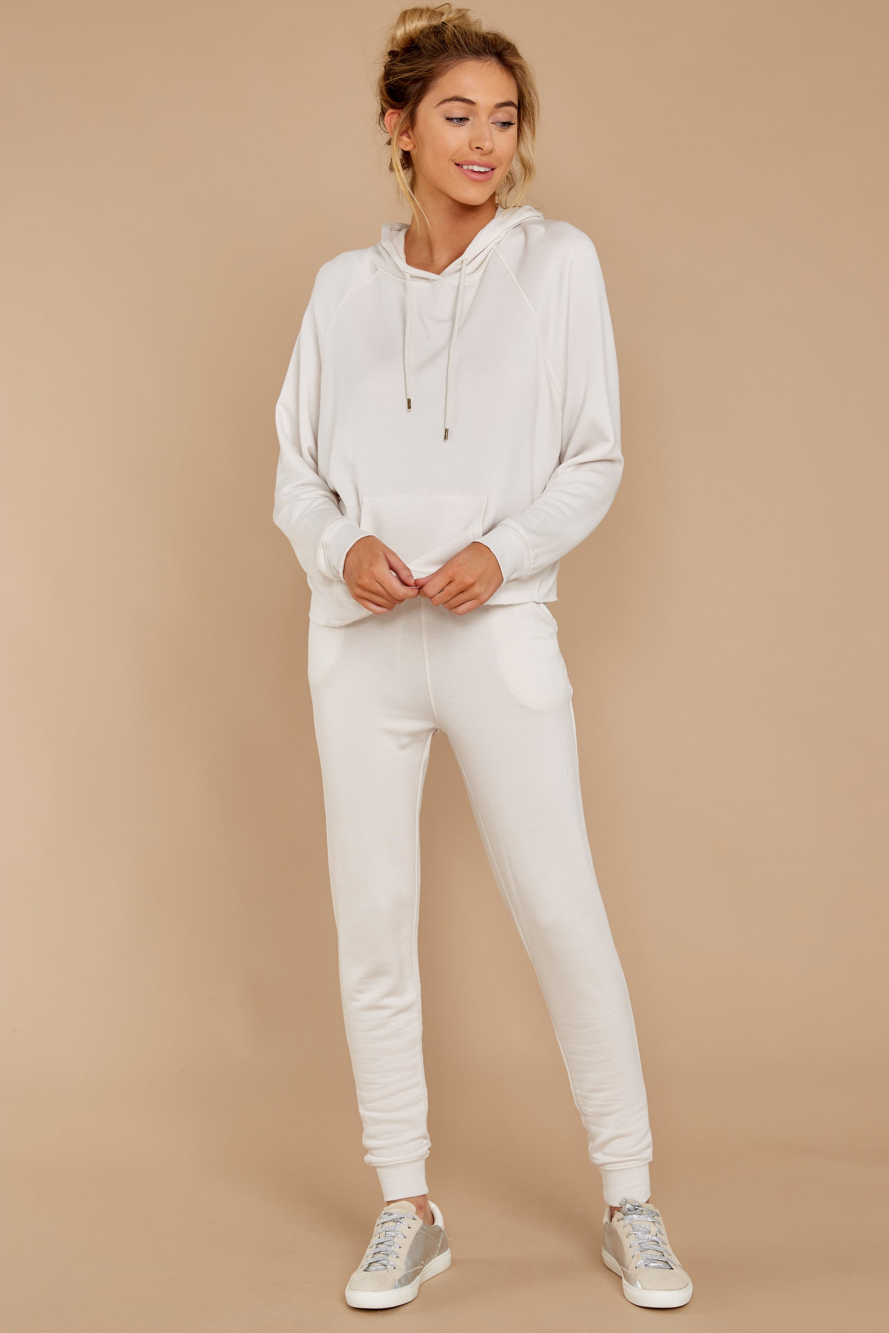 2 The Champagne Mist Premium Fleece Dolman Hoodie at reddress.com