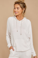 4 The Champagne Mist Premium Fleece Dolman Hoodie at reddress.com