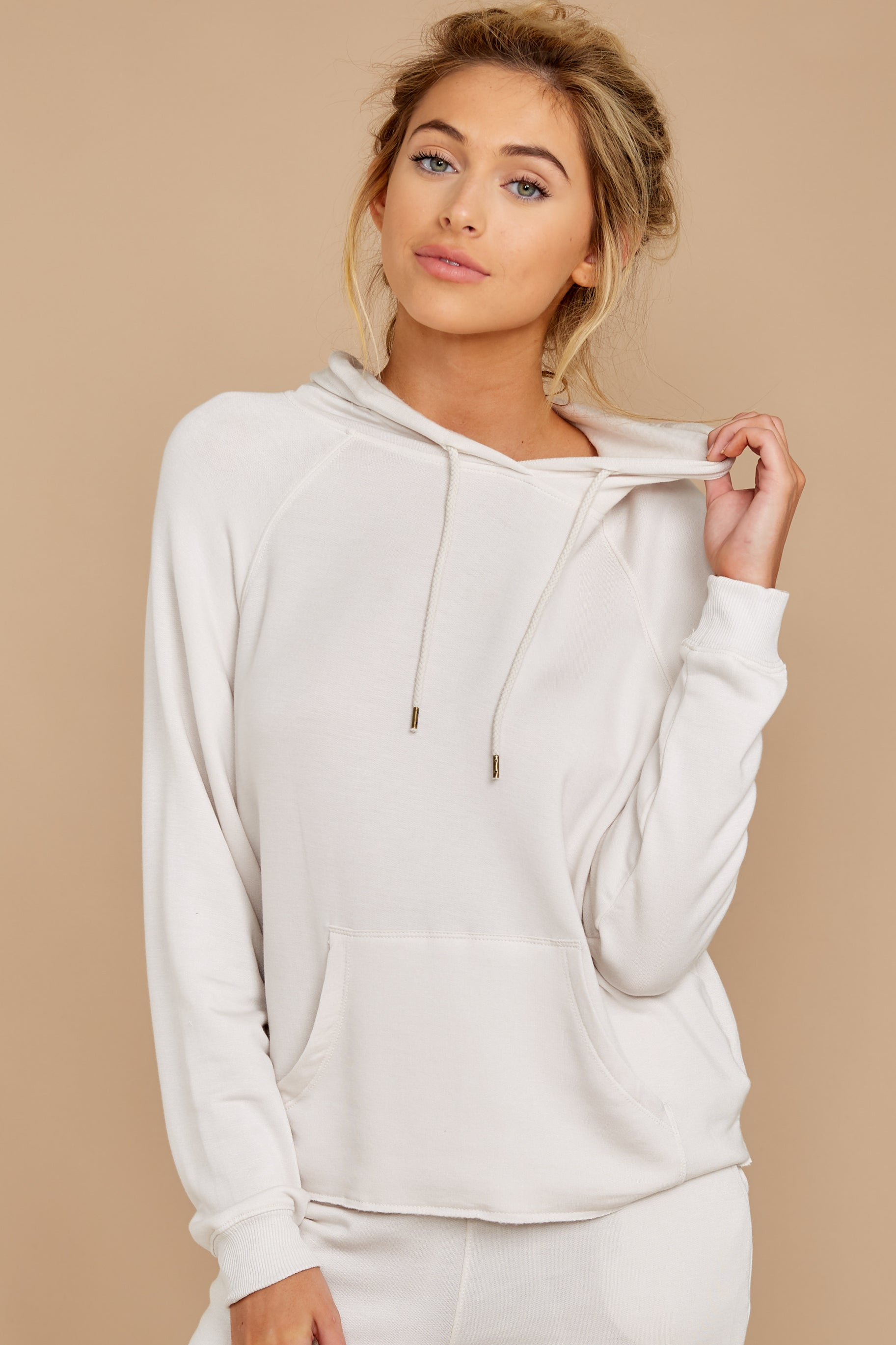 5 The Champagne Mist Premium Fleece Dolman Hoodie at reddress.com