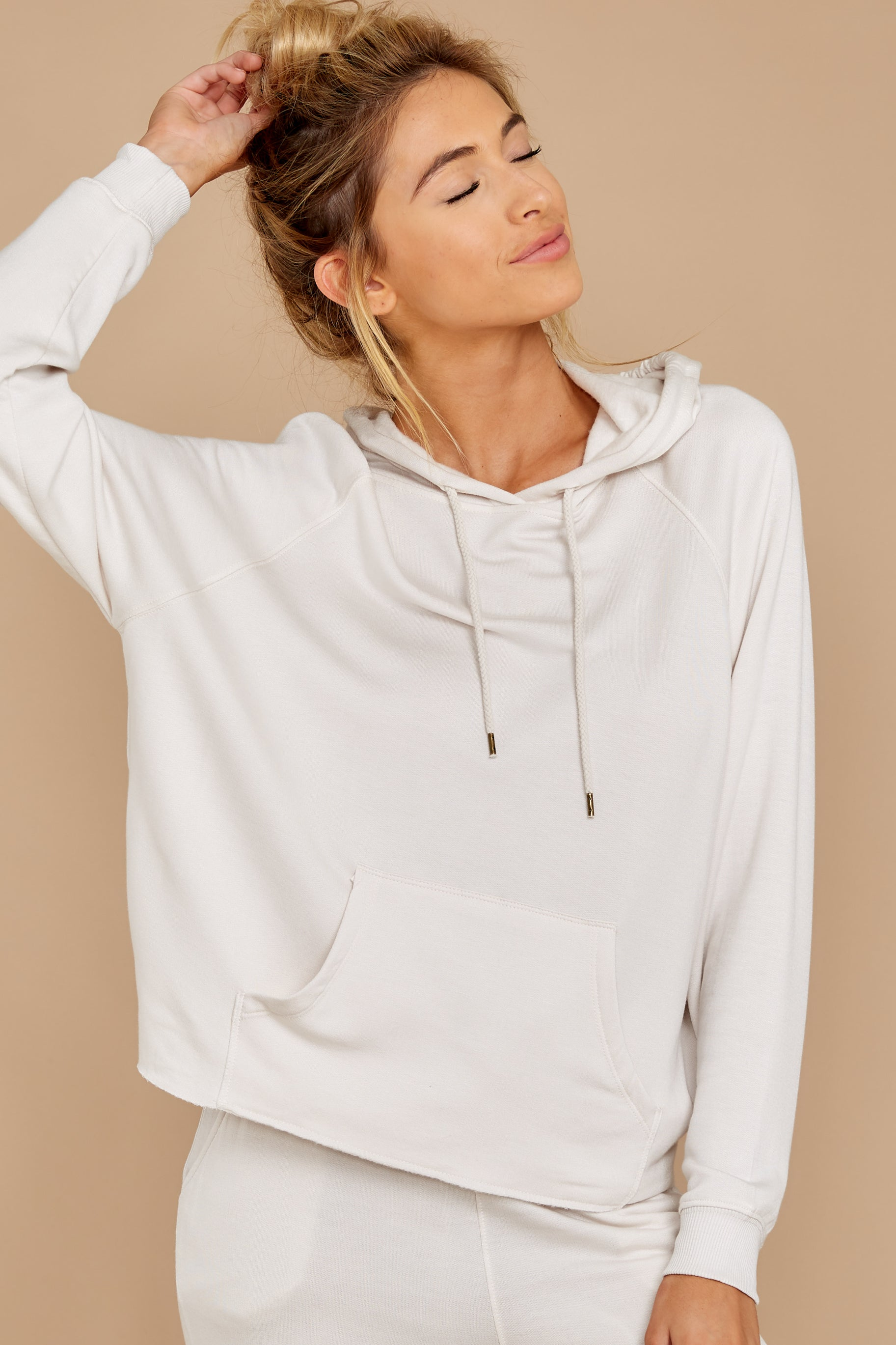 6 The Champagne Mist Premium Fleece Dolman Hoodie at reddress.com