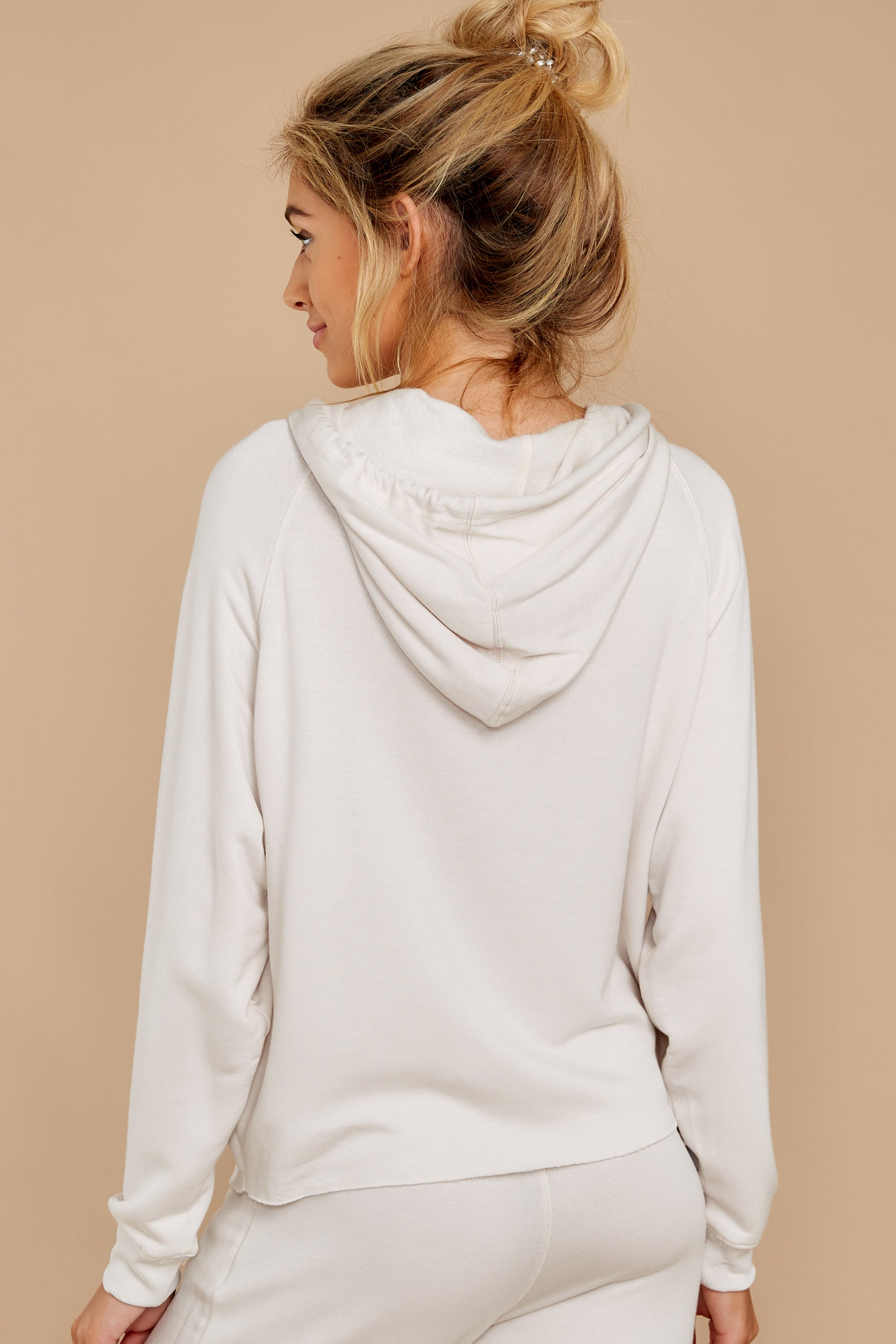 7 The Champagne Mist Premium Fleece Dolman Hoodie at reddress.com