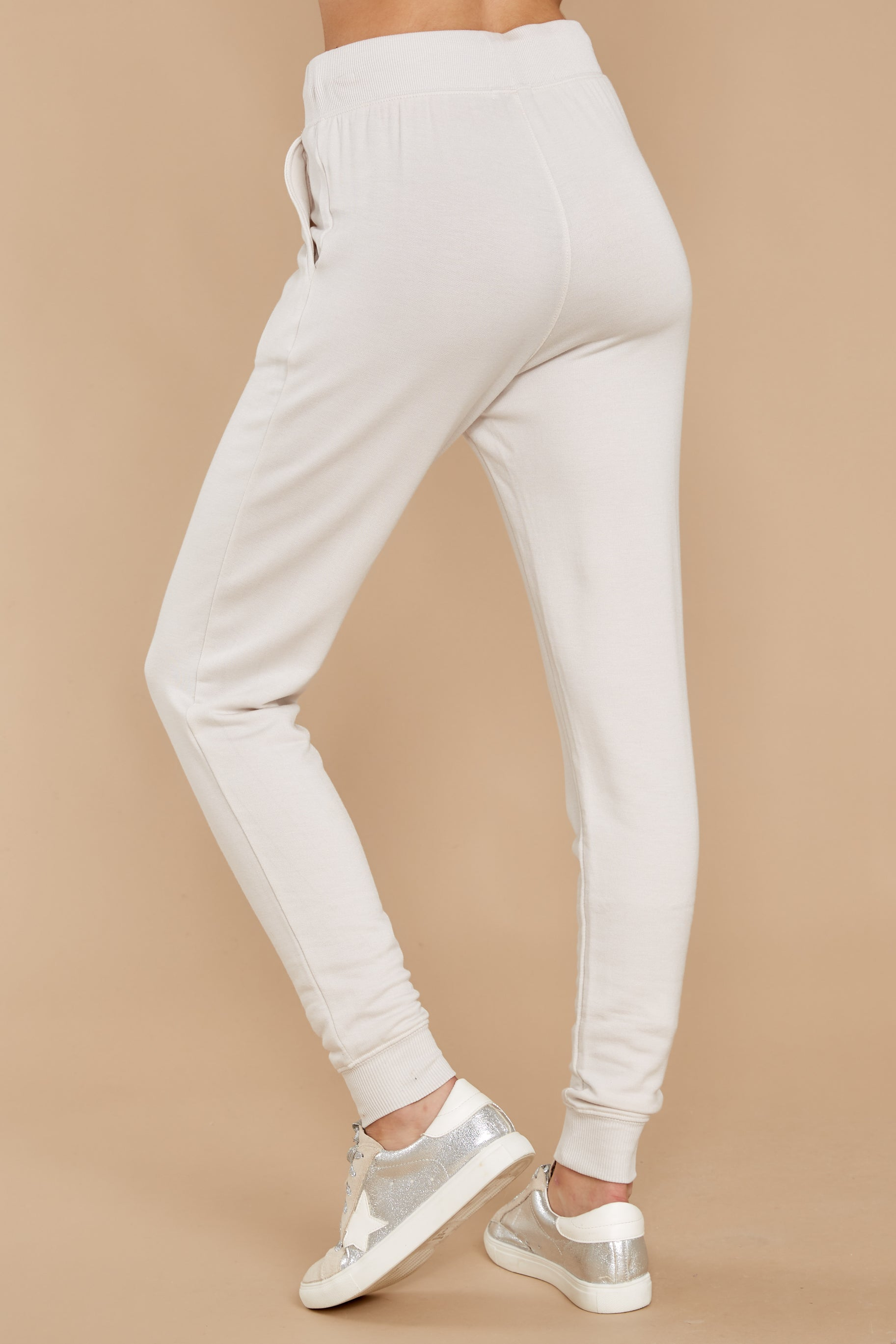 3 The Champagne Mist Premium Fleece Relaxed Jogger at reddress.com