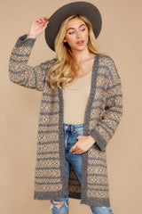 5 Fair Is Fair-Isle Grey Cardigan at reddressboutique.com