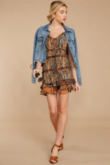 3 A New Take Rust Orange Multi Snake Print Dress at reddressboutique.com