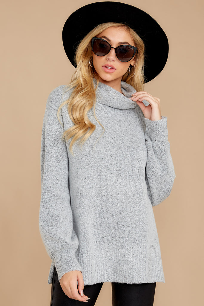 1 Keep Things Simple Heather Grey Sweater at reddress.com