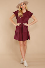 2 Sweet Persuasion Wine Dress at reddressboutique.com