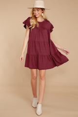 3 Sweet Persuasion Wine Dress at reddressboutique.com