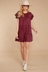 4 Sweet Persuasion Wine Dress at reddressboutique.com