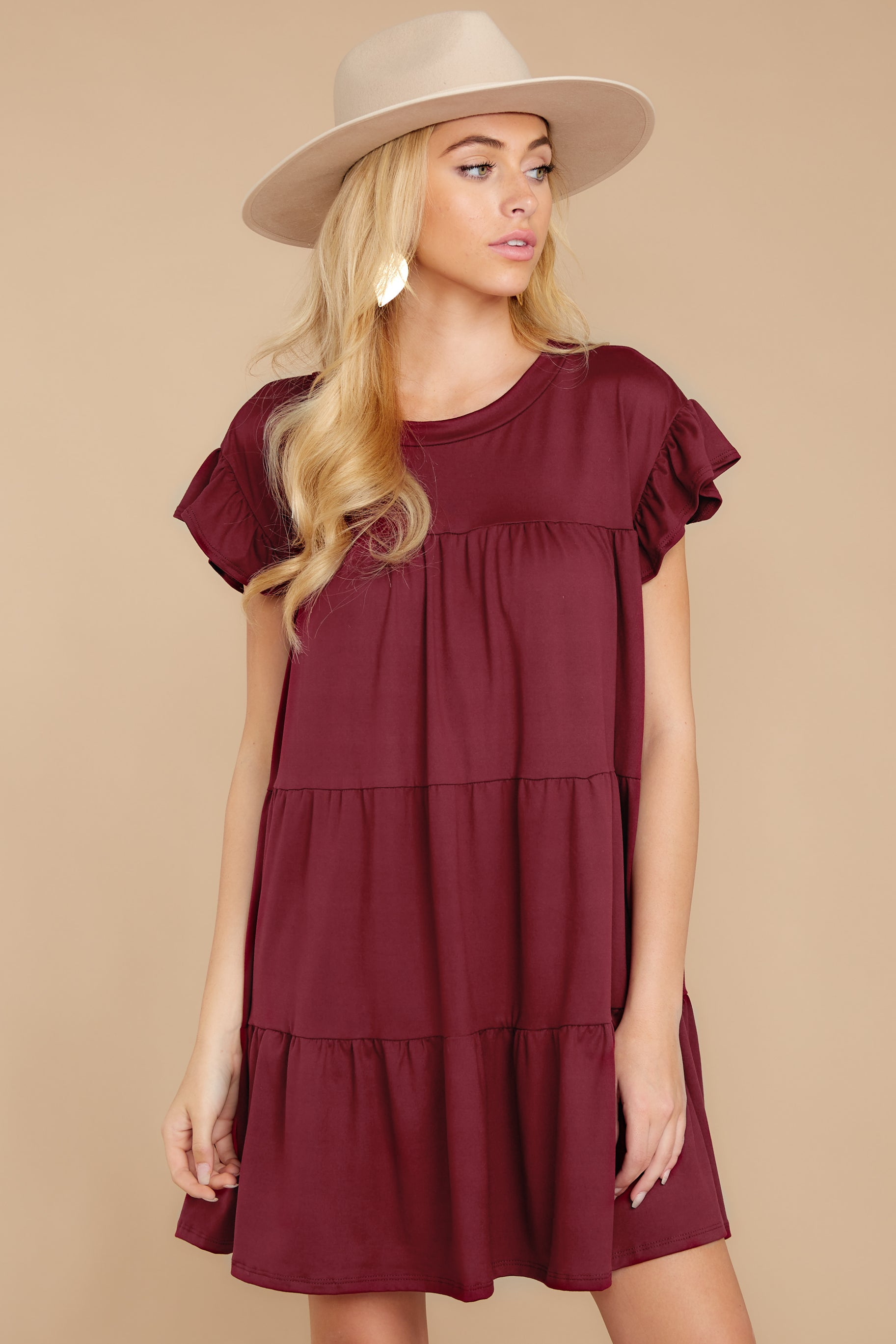 5 Sweet Persuasion Wine Dress at reddressboutique.com