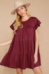 6 Sweet Persuasion Wine Dress at reddressboutique.com