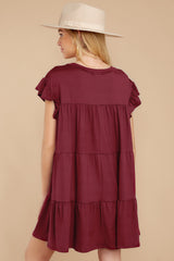 8 Sweet Persuasion Wine Dress at reddressboutique.com