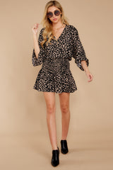 3 Such A Charmer Taupe Leopard Print Dress at reddressboutique.com