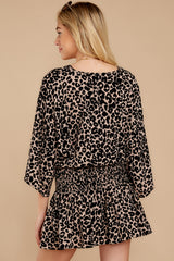8 Such A Charmer Taupe Leopard Print Dress at reddressboutique.com