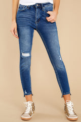 1 Last To Know Medium Wash Distressed Skinny Jeans at reddress.com