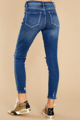 4 Last To Know Medium Wash Distressed Skinny Jeans at reddress.com