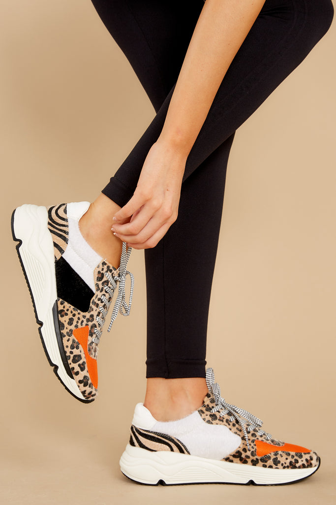 1 Kate Gold Snake Multi Sneakers at reddress.com