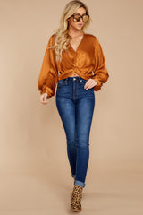 1 Drinks On Me Caramel Top at reddressboutique.com