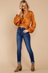 2 Drinks On Me Caramel Top at reddressboutique.com