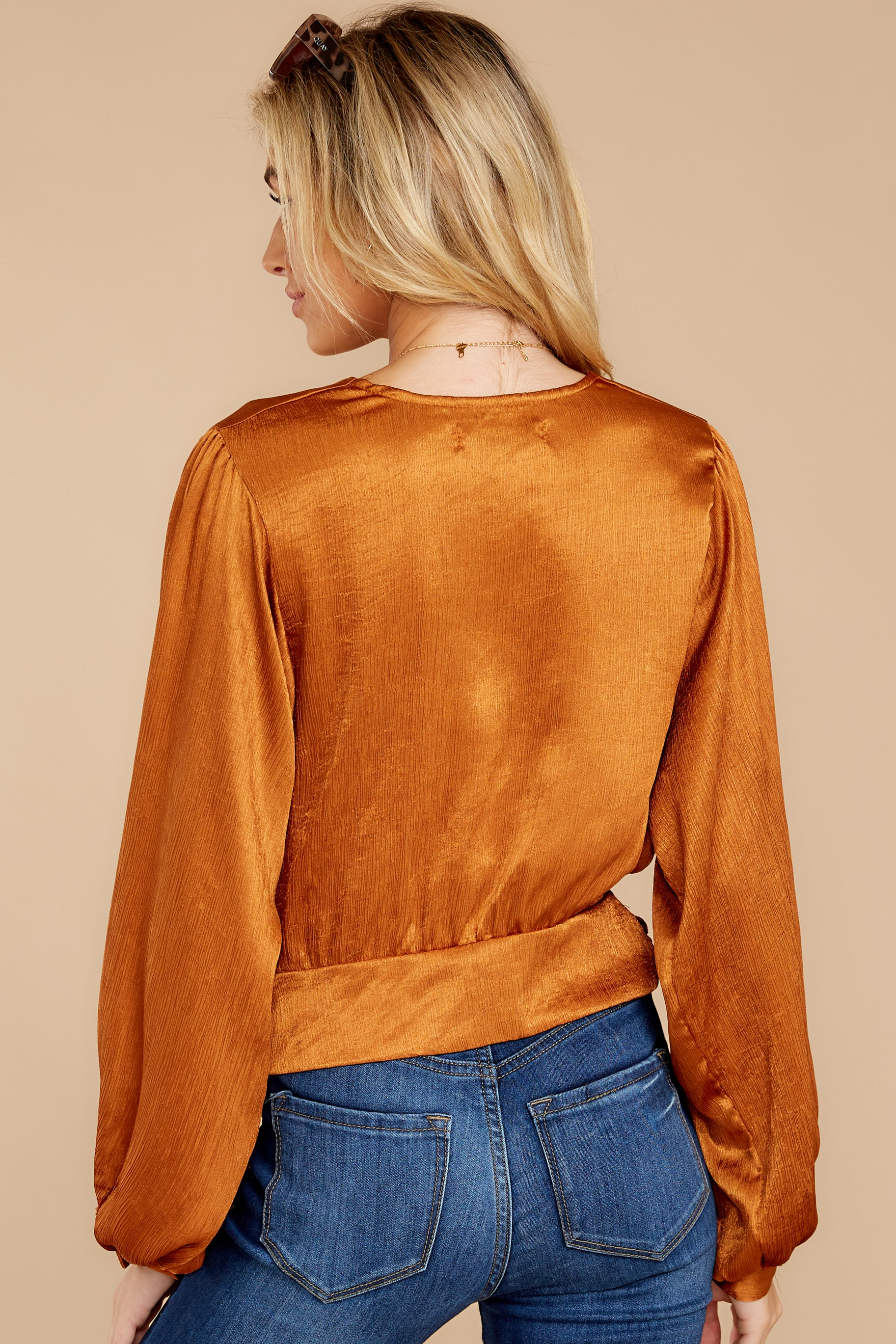 9 Drinks On Me Caramel Top at reddressboutique.com