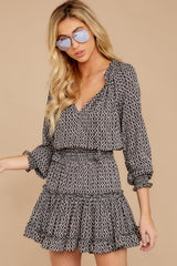 5 Freelance Dreamer Charcoal Print Dress at reddressboutique.com