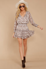 2 Freelance Dreamer Brown Leopard Print Dress at reddressboutique.com