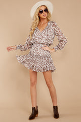 1 Freelance Dreamer Brown Leopard Print Dress at reddressboutique.com