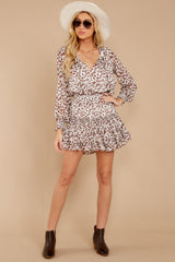 3 Freelance Dreamer Brown Leopard Print Dress at reddressboutique.com