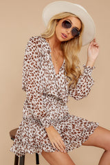 4 Freelance Dreamer Brown Leopard Print Dress at reddressboutique.com