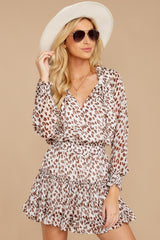 6 Freelance Dreamer Brown Leopard Print Dress at reddressboutique.com