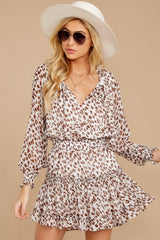 7 Freelance Dreamer Brown Leopard Print Dress at reddressboutique.com