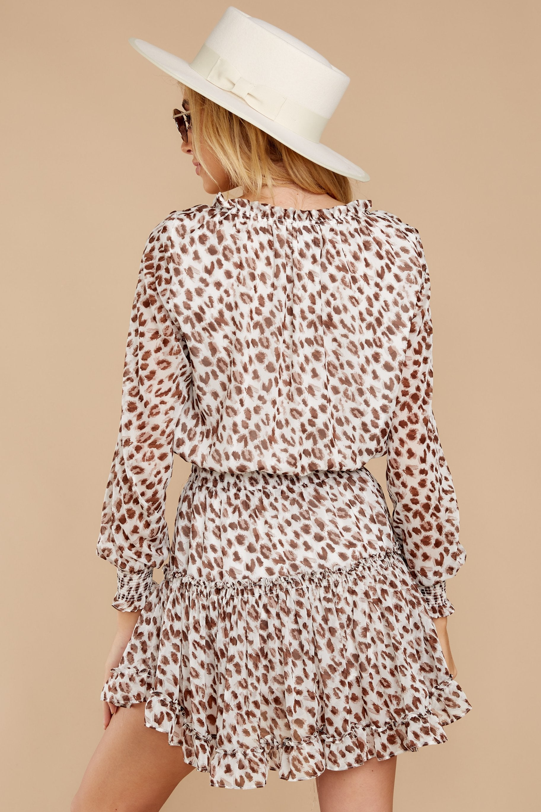 8 Freelance Dreamer Brown Leopard Print Dress at reddressboutique.com
