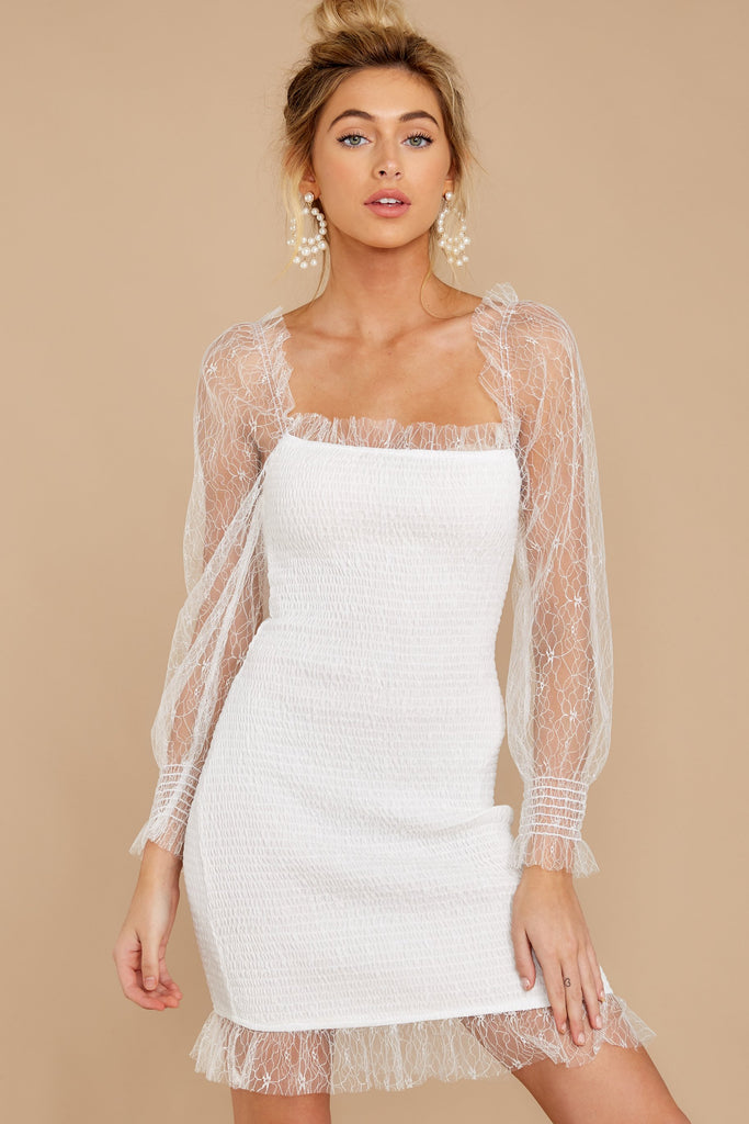 1828 All For Hope White Lace Maxi Dress at reddress.com