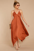 V-neck Polyester Draped Open-Back Hidden Back Zipper Full-Skirt Maxi Dress