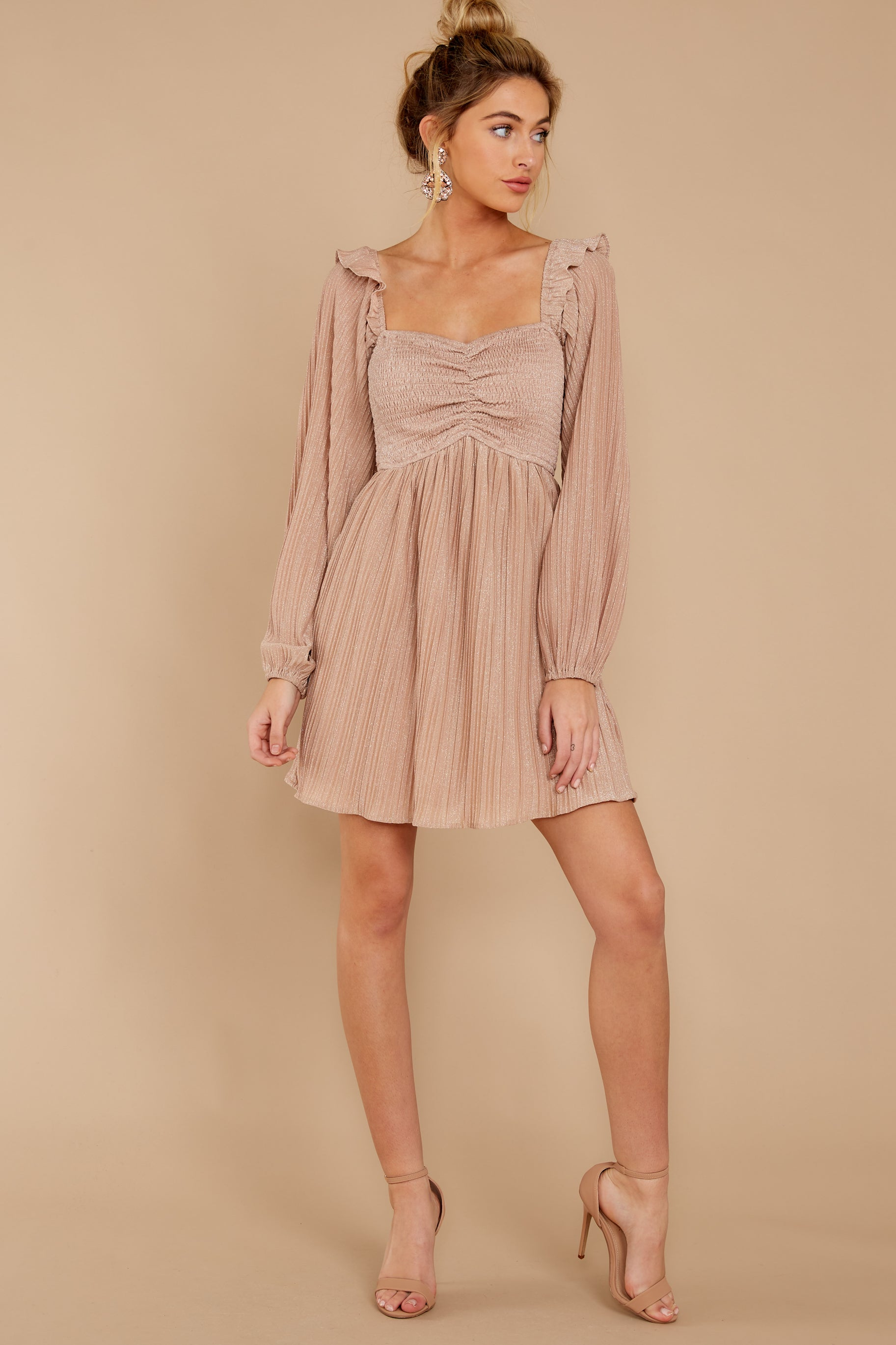 2 Every Single Night Rose Gold Dress at reddressboutique.com