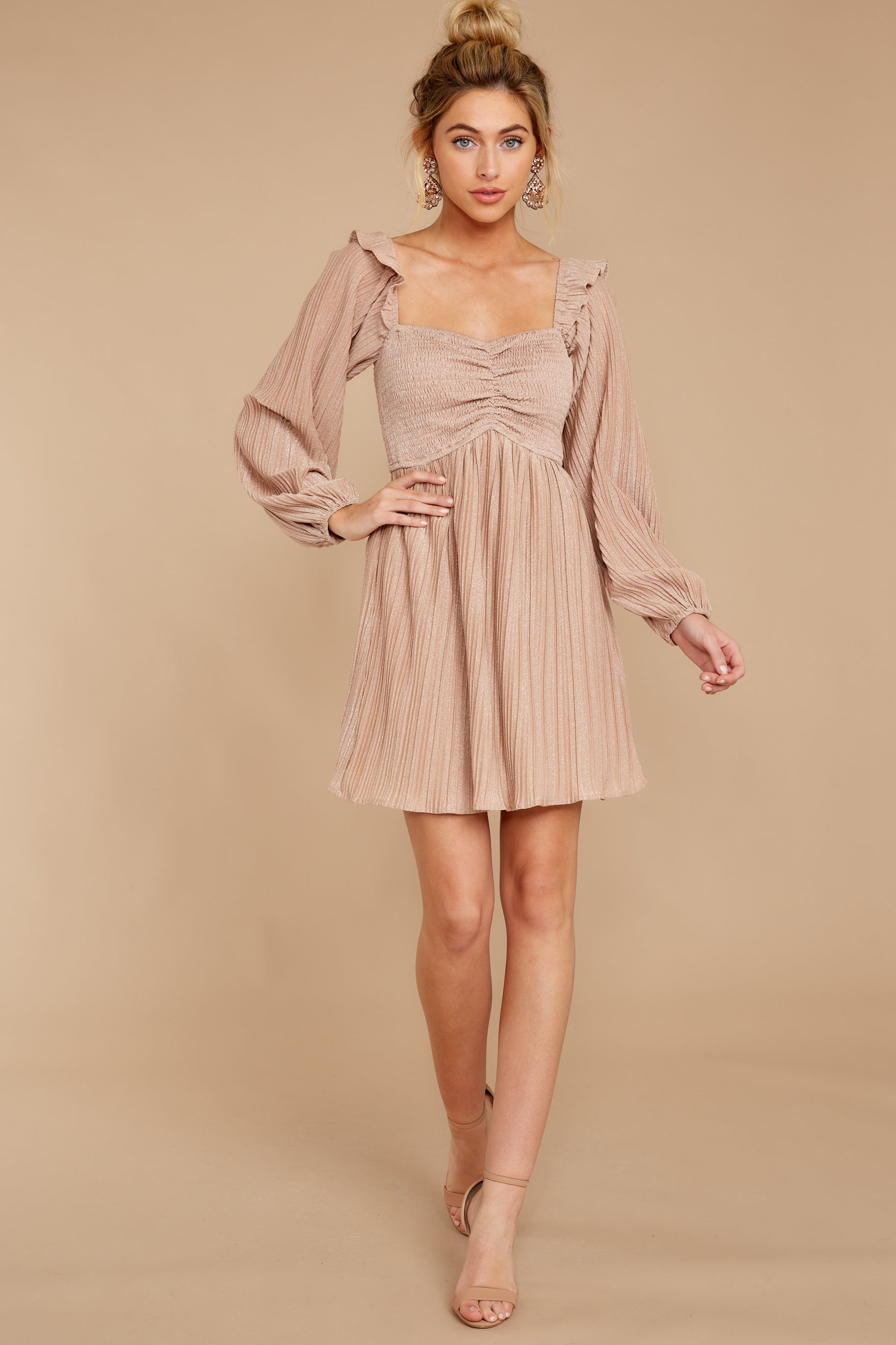 3 Every Single Night Rose Gold Dress at reddressboutique.com