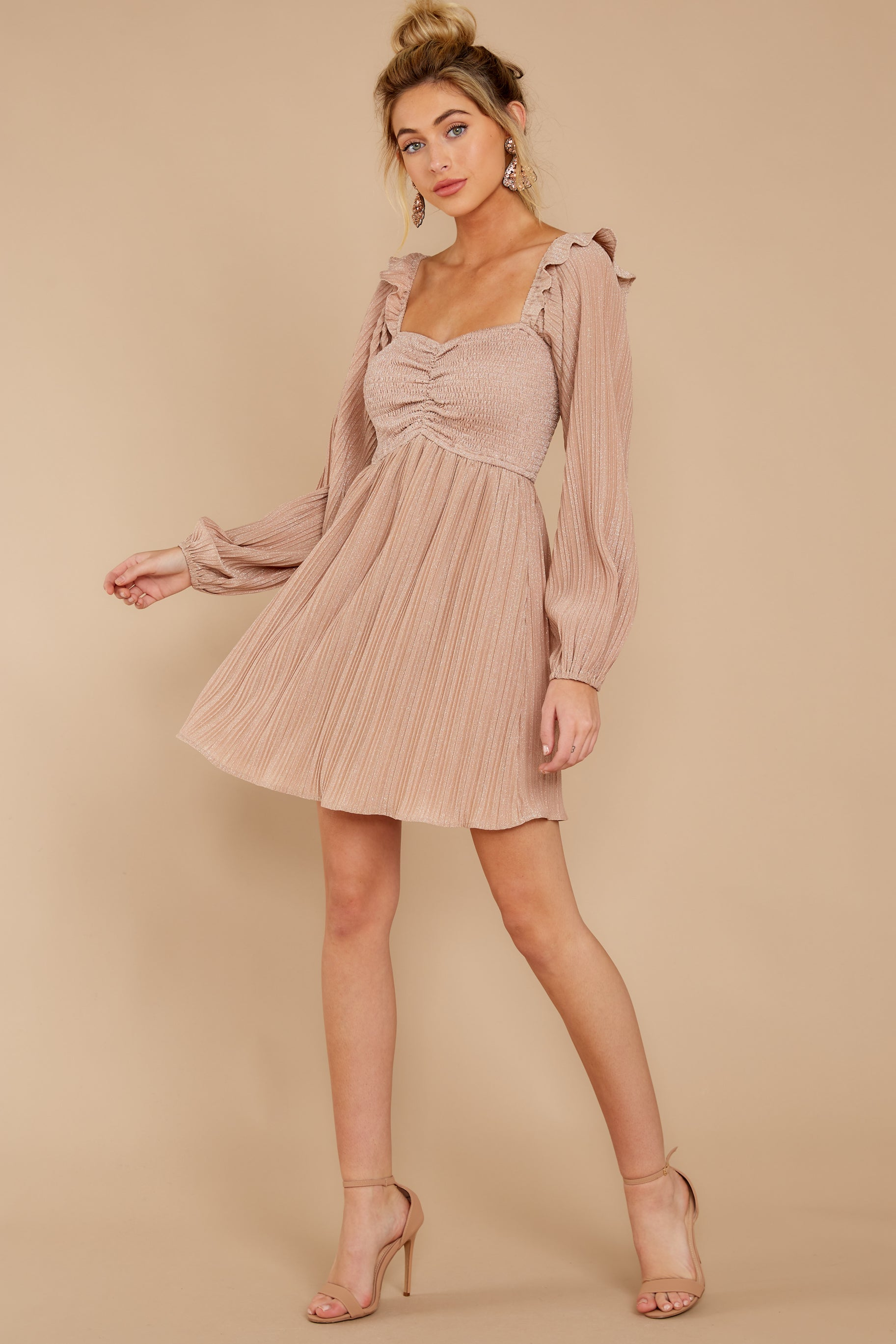 4 Every Single Night Rose Gold Dress at reddressboutique.com