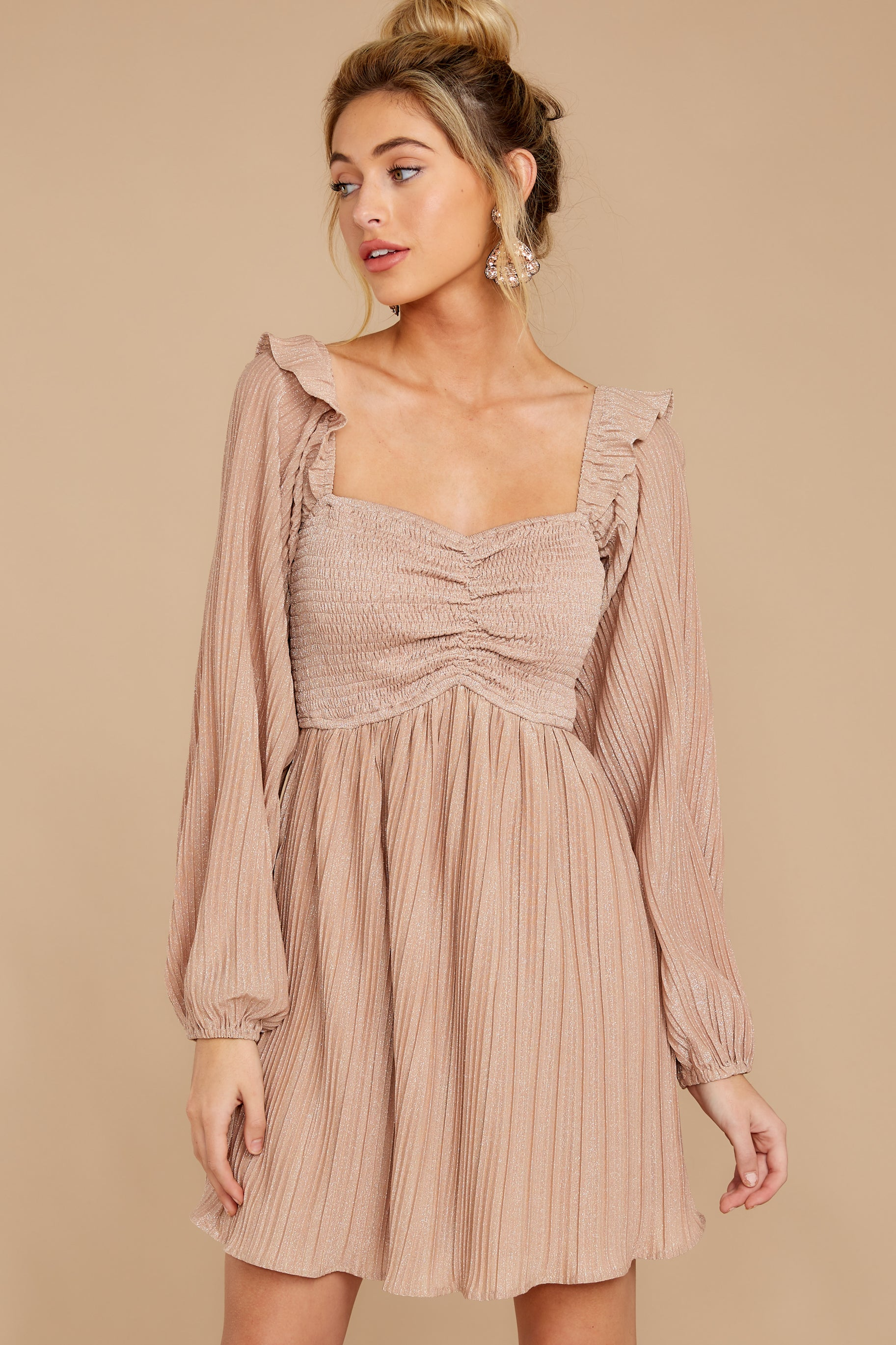 6 Every Single Night Rose Gold Dress at reddressboutique.com