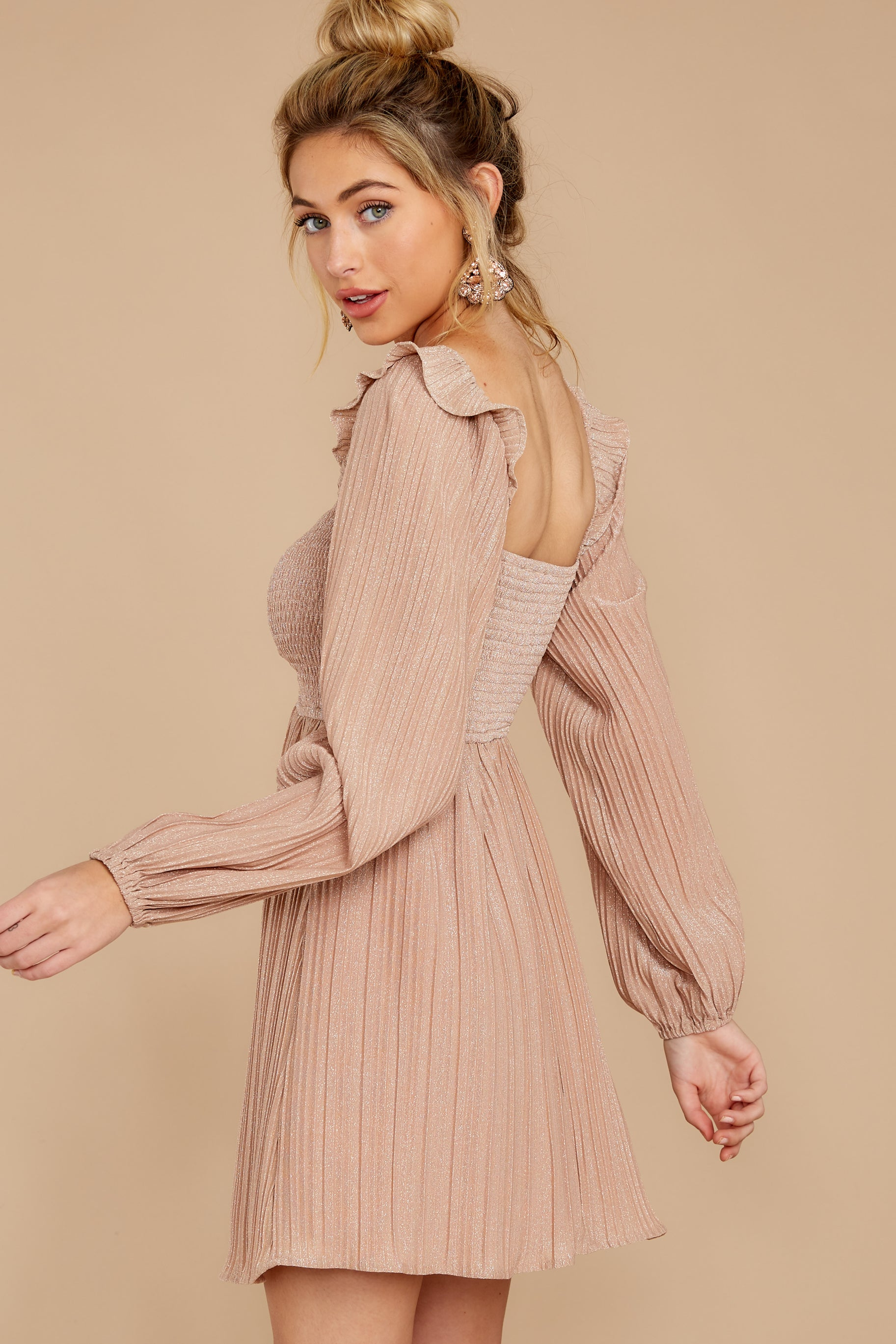 8 Every Single Night Rose Gold Dress at reddressboutique.com