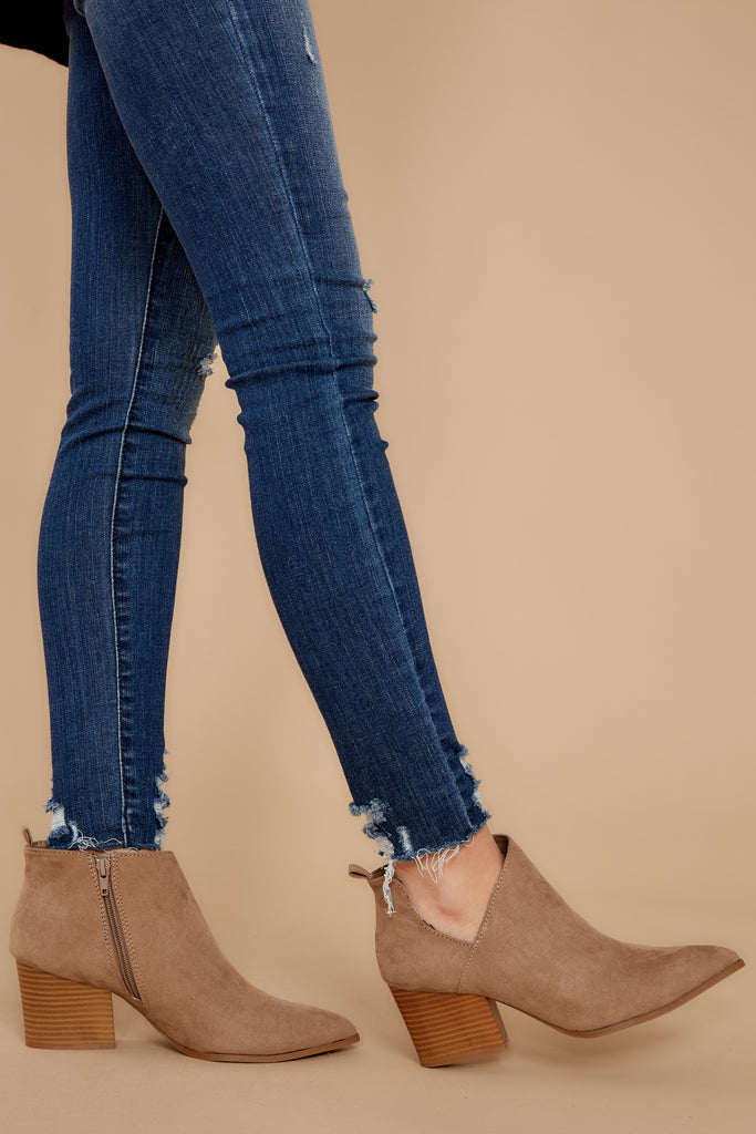 1 Not Going Back Medium Wash Distressed Skinny Jeans at reddressboutique.com