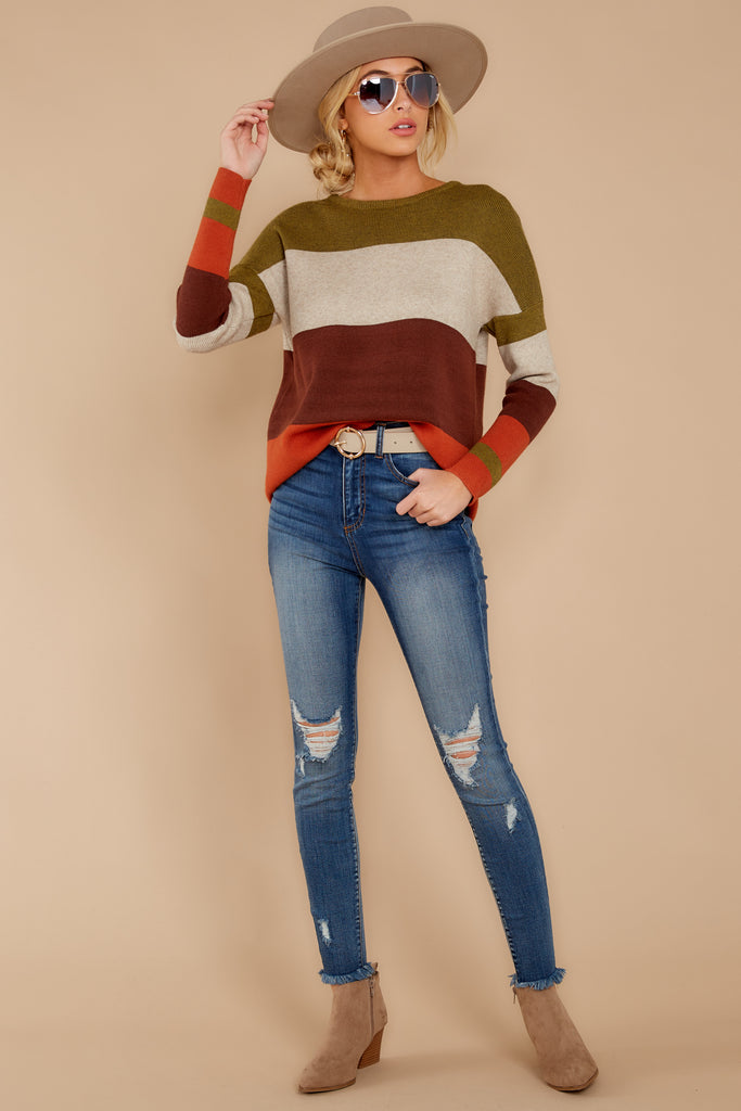 1 Remember Tomorrow Ivory Multi Sweater at reddressboutique.com