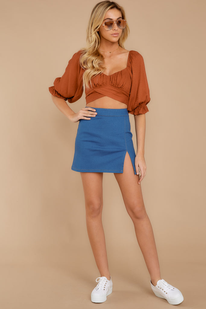 4 Around The Corner Rust Top at reddressboutique.com