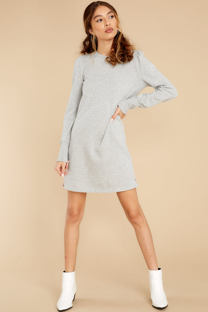 1 Collected Thoughts Charcoal Sweater Dress at reddress.com