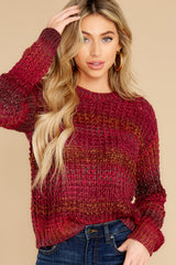 2 Catching Up Red Multi Knit Sweater at reddress.com