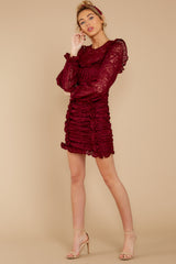 3 Talk About Love Burgundy Dress at reddress.com