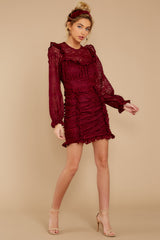 5 Talk About Love Burgundy Dress at reddress.com