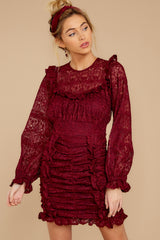 7 Talk About Love Burgundy Dress at reddress.com