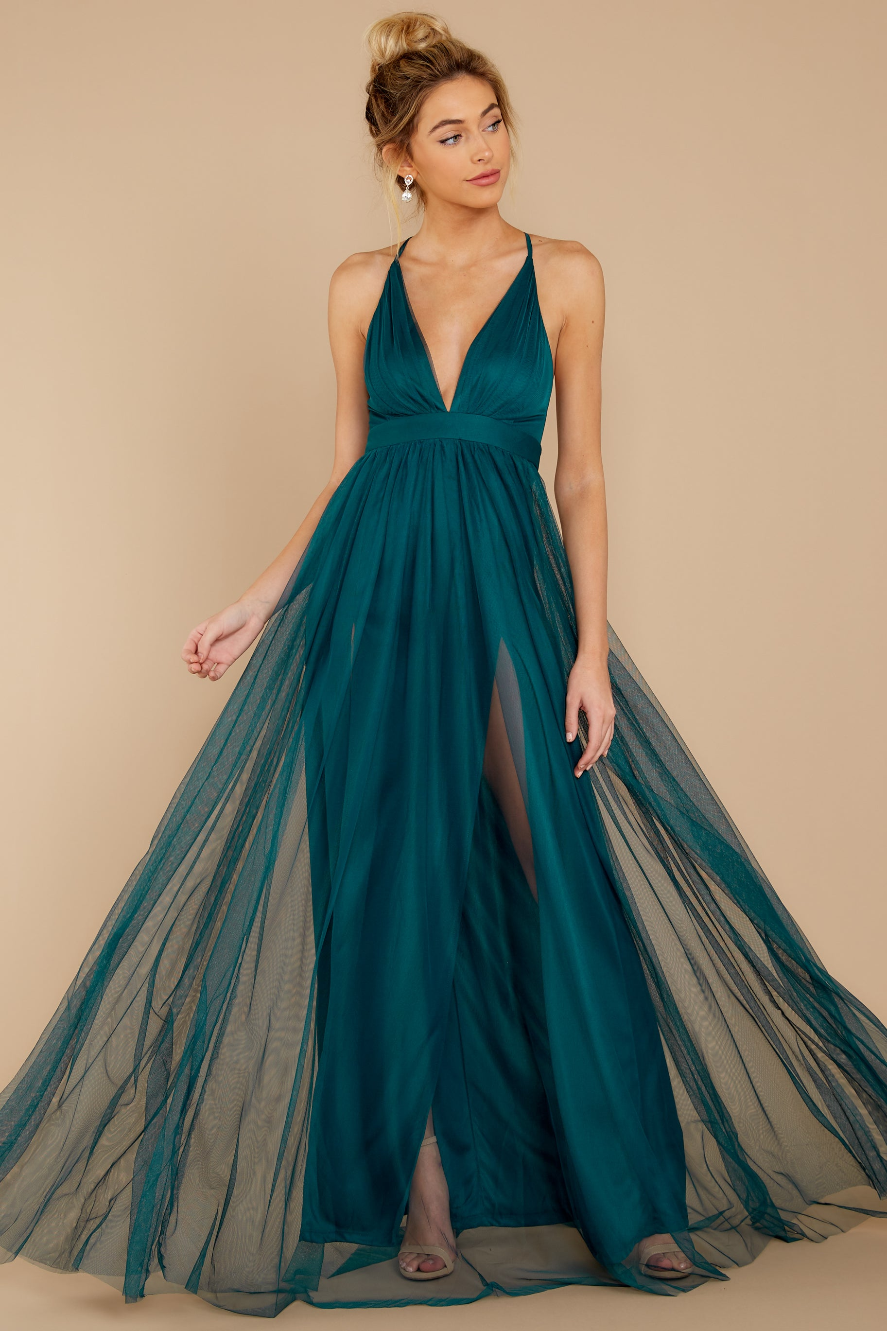 1 Matters Of The Heart Teal Maxi Dress at reddressboutique.com